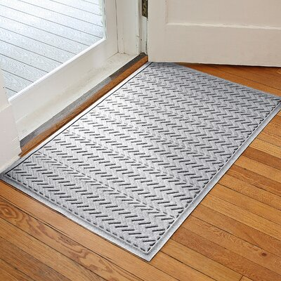 Harding Chevron Doormat Rug Size: 3 x 5, Color: White