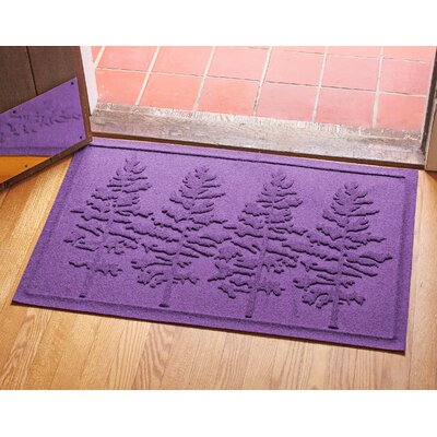 Conway Fir Forest Doormat Color: Purple