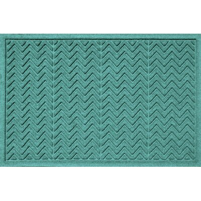 Aqua Shield Chevron Doormat Rug Size: 2' x 3', Color: Dark Brown 20489520023