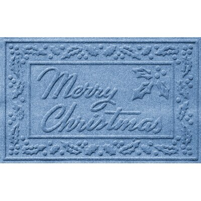 Aqua Shield Merry Christmas Doormat Color: Medium Blue