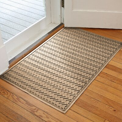 Harding Chevron Doormat Rug Size: 3 x 5, Color: Camel