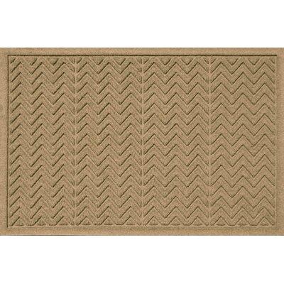 Aqua Shield Chevron Doormat Rug Size: 2' x 3', Color: Gold