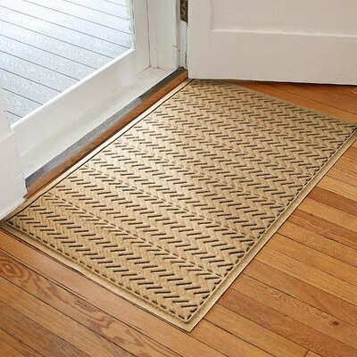 Harding Chevron Doormat Rug Size: 3 x 5, Color: Gold