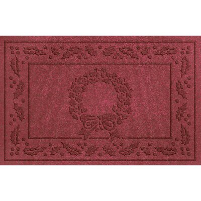 Conway Wreath Doormat Color: Red