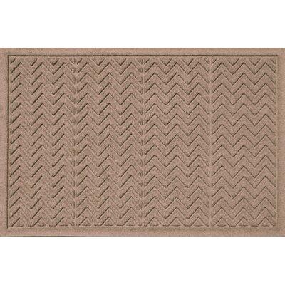 Aqua Shield Chevron Doormat Rug Size: 2 x 3, Color: Medium Brown