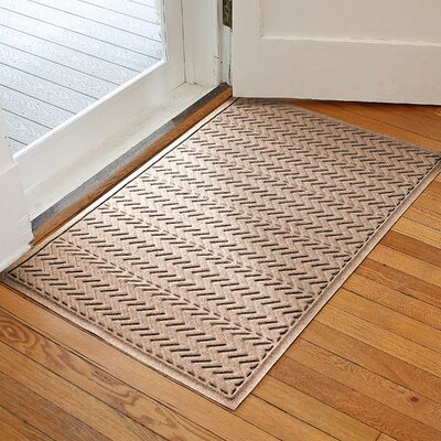 Harding Chevron Doormat Rug Size: 3 x 5, Color: Medium Brown