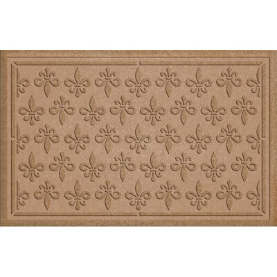 Conway Fleur Field Doormat Color: Medium Brown