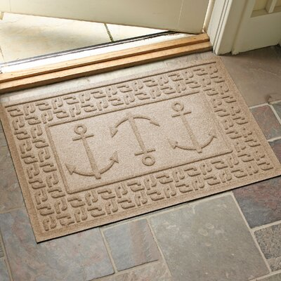 Conway Ahoy! Doormat Color: Camel