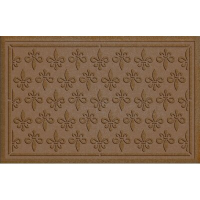 Aqua Shield Fleur Field Doormat Color: Dark Brown