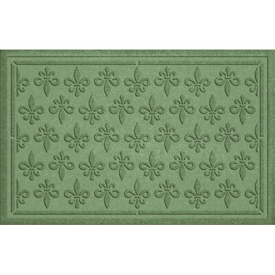 Conway Fleur Field Doormat Color: Light Green