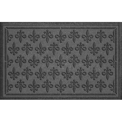 Conway Fleur Field Doormat Color: Charcoal