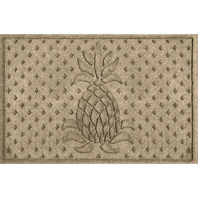 Anitra Diamond Pineapple Doormat Color: Camel
