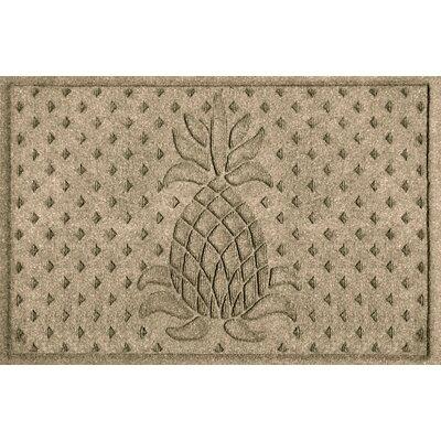 Aqua Shield Diamond Pineapple Doormat Color: Camel