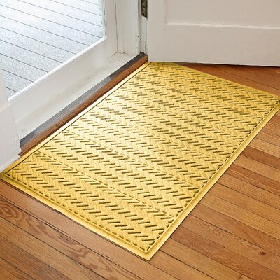 Harding Chevron Doormat Rug Size: 2 x 3, Color: Yellow