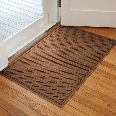 Harding Chevron Doormat Rug Size: 3 x 5, Color: Dark Brown