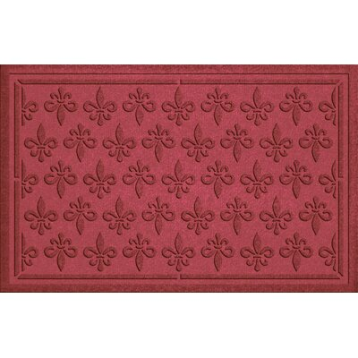 Aqua Shield Fleur Field Doormat Color: Red