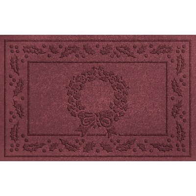 Conway Wreath Doormat Color: Bordeaux
