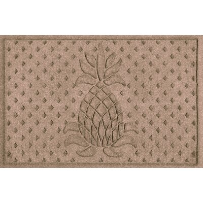 Aqua Shield Diamond Pineapple Doormat Color: Medium Brown