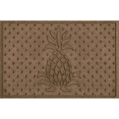 Anitra Diamond Pineapple Doormat Color: Dark Brown