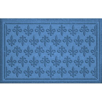 Aqua Shield Fleur Field Doormat Color: Medium Blue