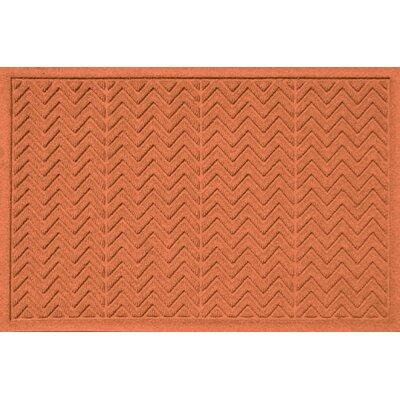 Aqua Shield Chevron Doormat Rug Size: 2' x 3', Color: Orange