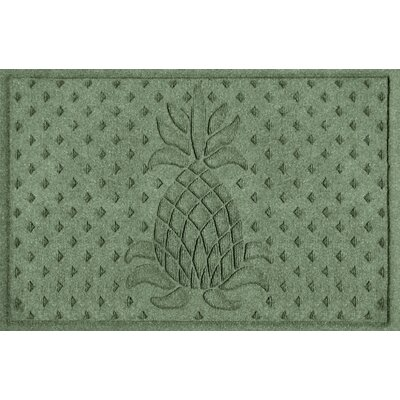 Aqua Shield Diamond Pineapple Doormat Color: Light Green