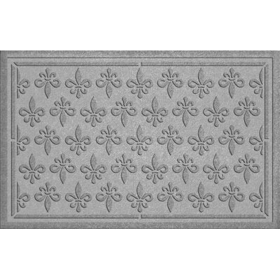 Conway Fleur Field Doormat Color: Medium Gray