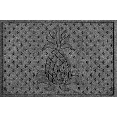 Anitra Diamond Pineapple Doormat Color: Charcoal