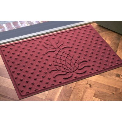 Anitra Diamond Pineapple Doormat Color: Red