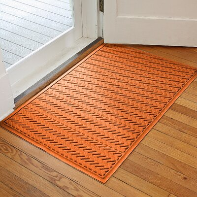 Harding Chevron Doormat Rug Size: 2 x 3, Color: Orange