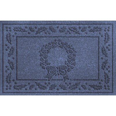 Conway Wreath Doormat Color: Navy