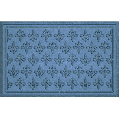 Conway Fleur Field Doormat Color: Bluestone