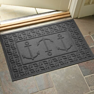 Conway Ahoy! Doormat Color: Charcoal