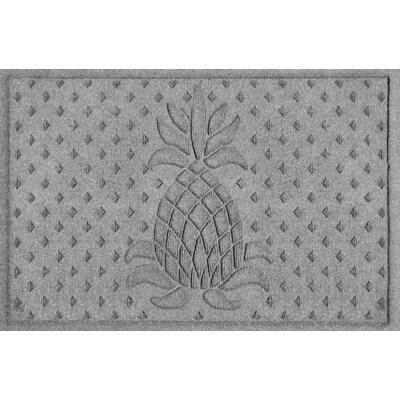 Aqua Shield Diamond Pineapple Doormat Color: Medium Gray
