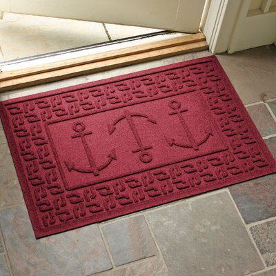 Aqua Shield Ahoy! Doormat Color: Red