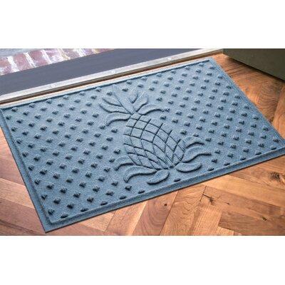 Anitra Diamond Pineapple Doormat Color: Bluestone