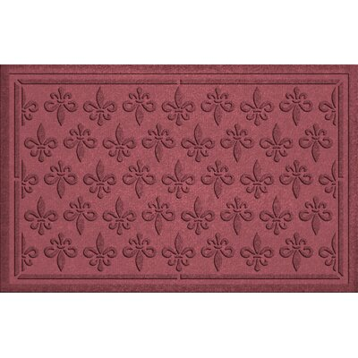 Conway Fleur Field Doormat Color: Bordeaux
