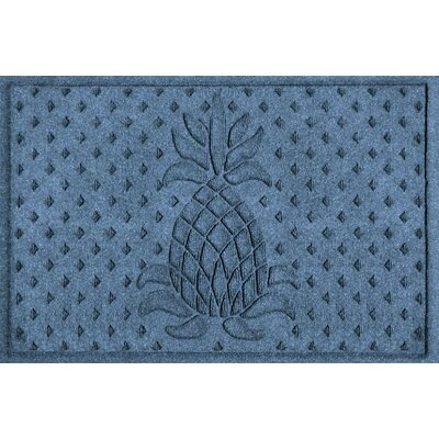 Anitra Diamond Pineapple Doormat Color: Bluestone