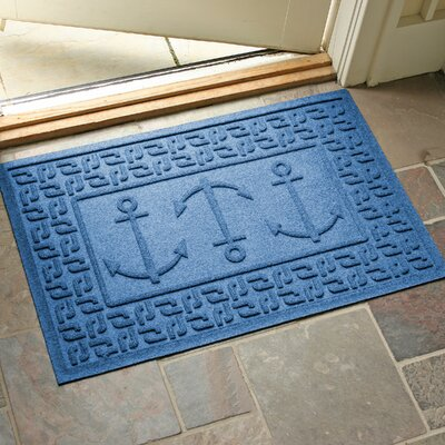 Aqua Shield Ahoy! Doormat Color: Medium Blue
