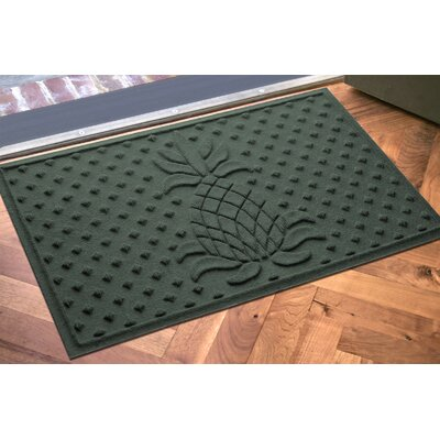 Anitra Diamond Pineapple Doormat Color: Evergreen
