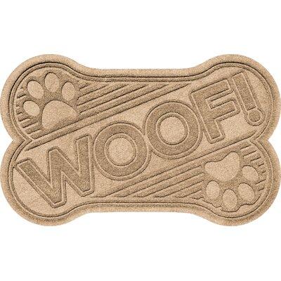 Aqua Shield Woof Doormat Color: Camel