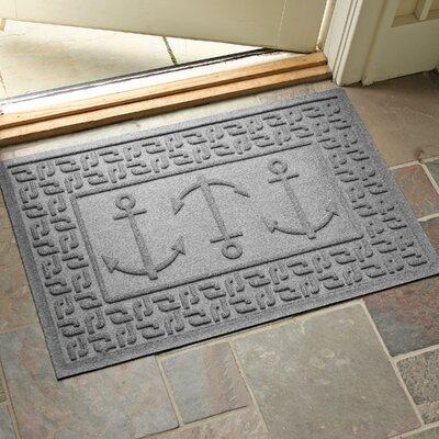 Aqua Shield Ahoy! Doormat Color: Medium Gray