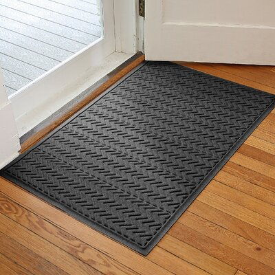 Harding Chevron Doormat Rug Size: 3 x 5, Color: Charcoal