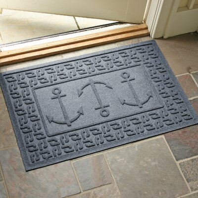 Conway Ahoy! Doormat Color: Bluestone