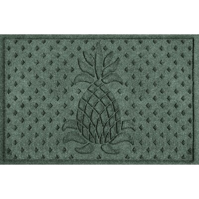 Anitra Diamond Pineapple Doormat Color: Evergreen