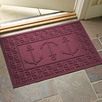 Aqua Shield Ahoy! Doormat Color: Bordeaux
