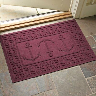 Conway Ahoy! Doormat Color: Bordeaux