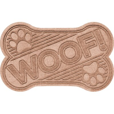 Aqua Shield Woof Doormat Color: Medium Brown