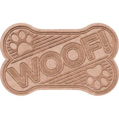 Aqua Shield Woof Doormat Color: Medium Brown