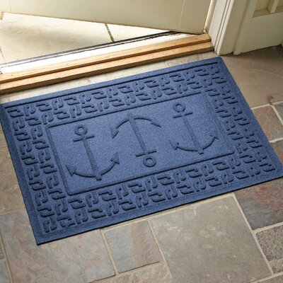 Aqua Shield Ahoy! Doormat Color: Navy